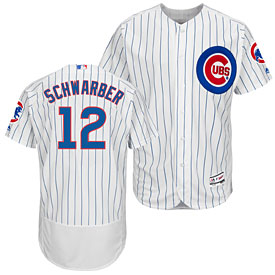 Chicago Cubs Kyle Schwarber Home Flexbase Authentic Collection Jersey
