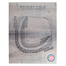 Chicago Cubs Wrigley Field Seating Chart 16 x 20 Wood Sign