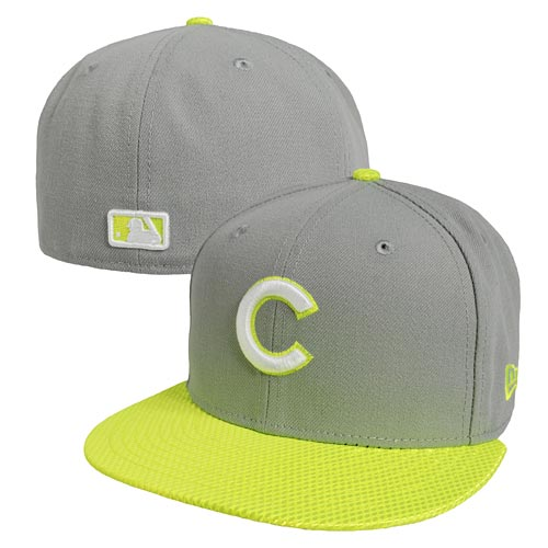 Chicago Cubs Neon Flash Visor 59FIFTY Fitted Cap b9b4b9fcc30