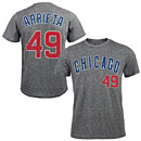 Chicago Cubs Jake Arrieta Road Tri-Blend Name and Number T-Shirt