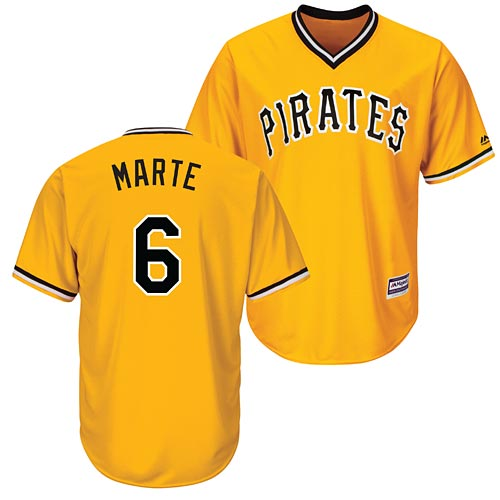 new concept 4aea3 f14ac Pittsburgh Pirates Starling Marte Alternate Gold Cool Base Replica Jersey