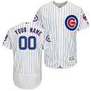 Chicago Cubs Home Flexbase Authentic Collection Customized Jersey w/ Wrigley Field 100 Year Patch