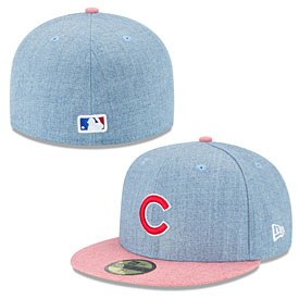Chicago Cubs Heather Action Royal 59FIFTY Fitted Cap