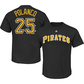 Pittsburgh Pirates Gregory Polanco Name and Number T-Shirt