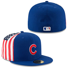 Chicago Cubs Flag Side 59Fifty Fitted Cap