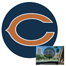 Chicago Bears Perforated Window Decal