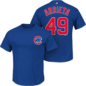 Chicago Cubs Jake Arrieta Name and Number T-Shirt