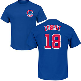 Chicago Cubs Ben Zobrist Youth Name and Number T-Shirt