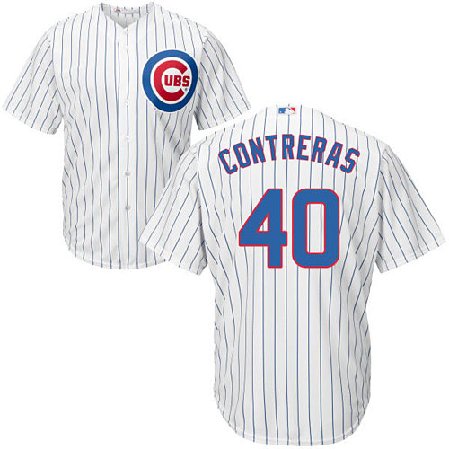 the best attitude 145ab f2e85 Chicago Cubs Willson Contreras Youth Home Cool Base Replica Jersey
