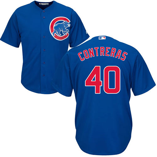 new style 8bc36 7a61a Chicago Cubs Willson Contreras Alternate Cool Base Replica Jersey