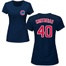 Chicago Cubs Willson Contreras Ladies Navy Name and Number T-Shirt