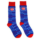 Chicago Cubs Word Repeat Crew Socks