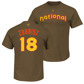 Chicago Cubs Ben Zobrist 2016 All-Star Game Name and Number T-Shirt