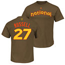 Chicago Cubs Addison Russell 2016 All-Star Game Name and Number T-Shirt