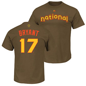 Chicago Cubs Kris Bryant Youth 2016 All-Star Game Name and Number T-Shirt