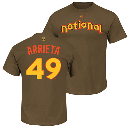 c598d7e81ab Chicago Cubs Jake Arrieta Youth 2016 All-Star Game Name and Number T-Shirt