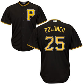 Pittsburgh Pirates Gregory Polanco Youth Alternate Replica Cool Base Jersey
