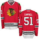 Chicago Blackhawks Brian Campbell Red Premier Jersey w/ Authentic Lettering