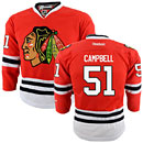 Chicago Blackhawks Brian Campbell Youth Red Premier Jersey w/ Authentic Lettering