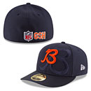 Chicago Bears 2016 Sideline Official B Logo Low Profile 59FIFTY Fitted Cap
