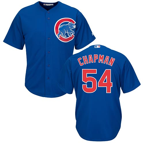 new concept 83e6e 78dea Chicago Cubs Aroldis Chapman Alternate Cool Base Replica Jersey