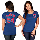 Chicago Cubs Aroldis Chapman Ladies Name and Number T-Shirt