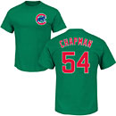 Chicago Cubs Aroldis Chapman Green Name and Number T-Shirt