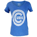 Chicago Cubs Ladies Ballpark Royal Full Tonal T-Shirt