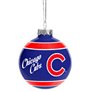 Chicago Cubs Glass Ball Ornament