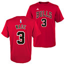 Chicago Bulls Dwyane Wade Youth Name and Number T-Shirt