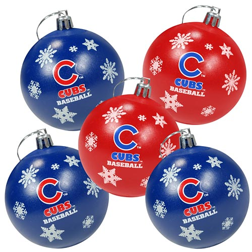 Cubs Christmas Ornaments.Chicago Cubs 5 Pack Shatterproof Ball Ornaments