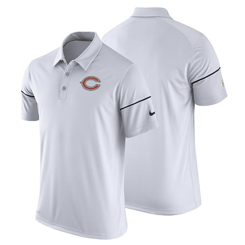 Chicago Bears White Team Issue Dri-FIT Polo 526affb67