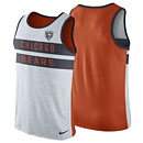Chicago Bears Stripe Tri-Blend Tank Top