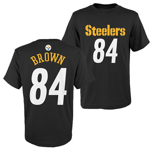 the latest 9ecd8 300c4 Pittsburgh Steelers Antonio Brown Youth Name and Number T-Shirt