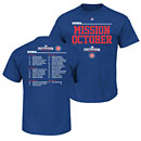 Chicago Cubs Youth 2016 Postseason Mission October Roster T-Shirt