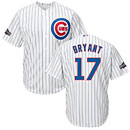 Chicago Cubs Kris Bryant Home Cool Base Replica Jersey w/ 2016 Postseason Patch
