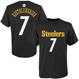 Pittsburgh Steelers Ben Roethlisberger Youth Name and Number T-Shirt
