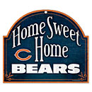 Chicago Bears Home Sweet Home Wooden Sign