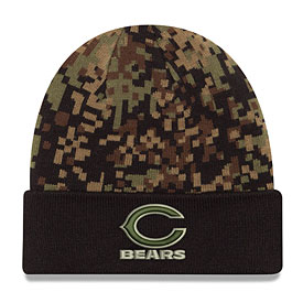 Chicago Bears Print Play Digi Camo Cuffed Knit Hat