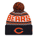 Chicago Bears Wintery Cuffed Knit Hat with Pom
