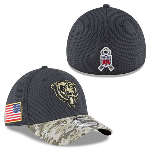 new style 1b9e5 fd00f Chicago Bears Kids 2016 Salute to Service 39THIRTY Flex Fit Cap