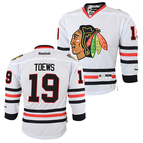 pretty nice 54896 2f542 Chicago Blackhawks Jonathan Toews Youth White Premier Jersey