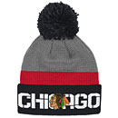 Chicago Blackhawks Center Ice Cuffed Knit Hat with Pom