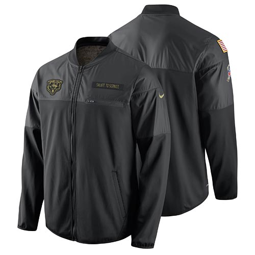 sale retailer f509d 6dbba Chicago Bears Salute to Service Hybrid Performance Jacket