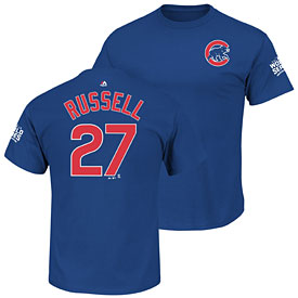 Chicago Cubs Addison Russell 2016 World Series Name and Number T-Shirt