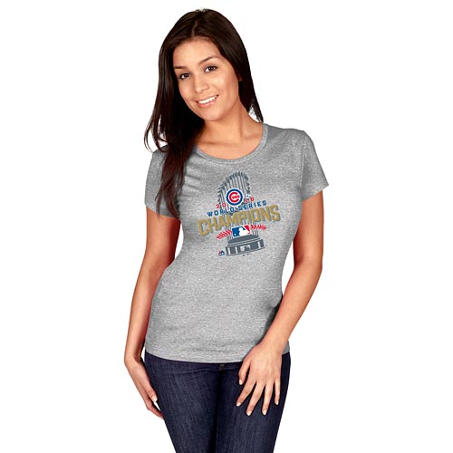 hot sale online 5fa0f bee4b Chicago Cubs Ladies 2016 World Series Champions Locker Room T-Shirt
