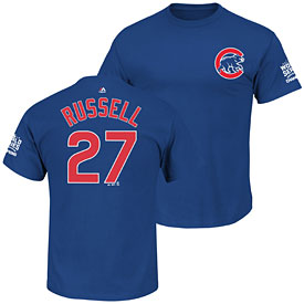 Chicago Cubs Addison Russell 2016 World Series Champions Name and Number T-Shirt