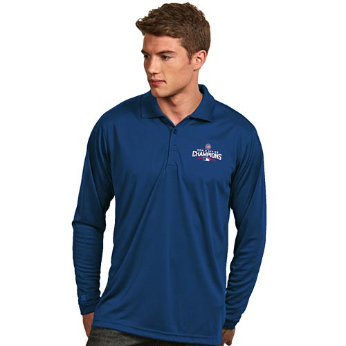 d5026681 Chicago Cubs 2016 World Series Champions Exceed Long Sleeve Polo