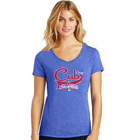 Chicago Cubs Ladies 2016 World Series Champions Multi-Count V-Neck T-Shirt