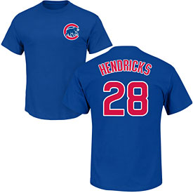 Chicago Cubs Kyle Hendricks Name and Number T-Shirt